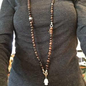 ST TROPEZ FRANCE Silver, Crystal Beaded Necklace